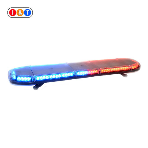48 Inch Red and Blue Police Strobe Light with Siren