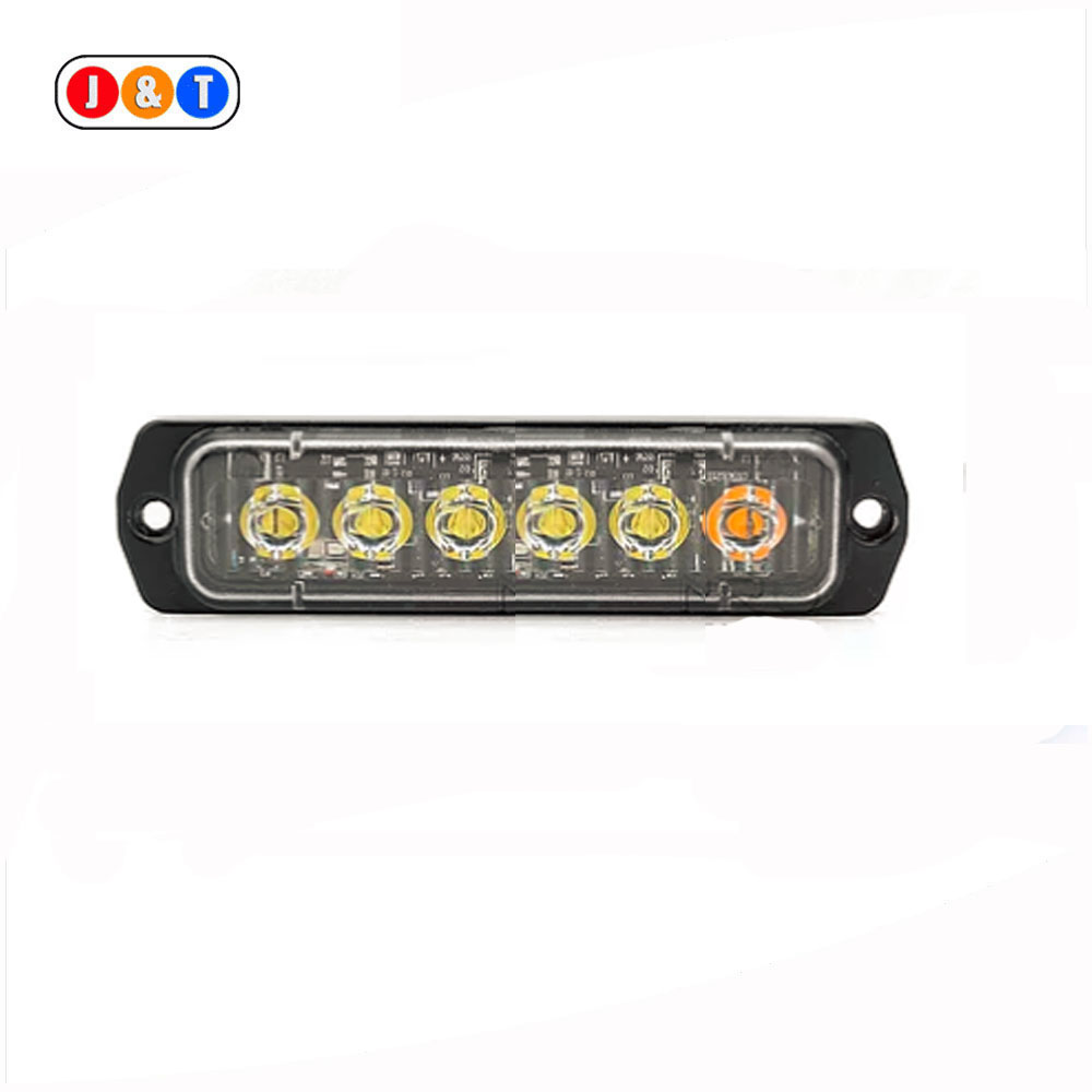 Amber 6 LED Strobe Lights